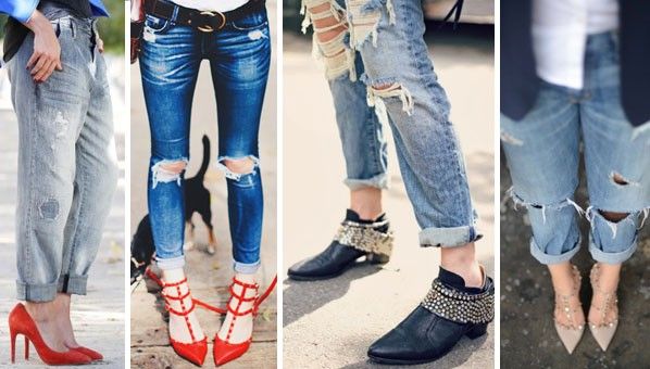 how to dress up denim