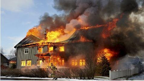 Brann våningshus 1